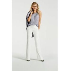 "Cabi Angel White Wide Leg Pants 35"" tall"